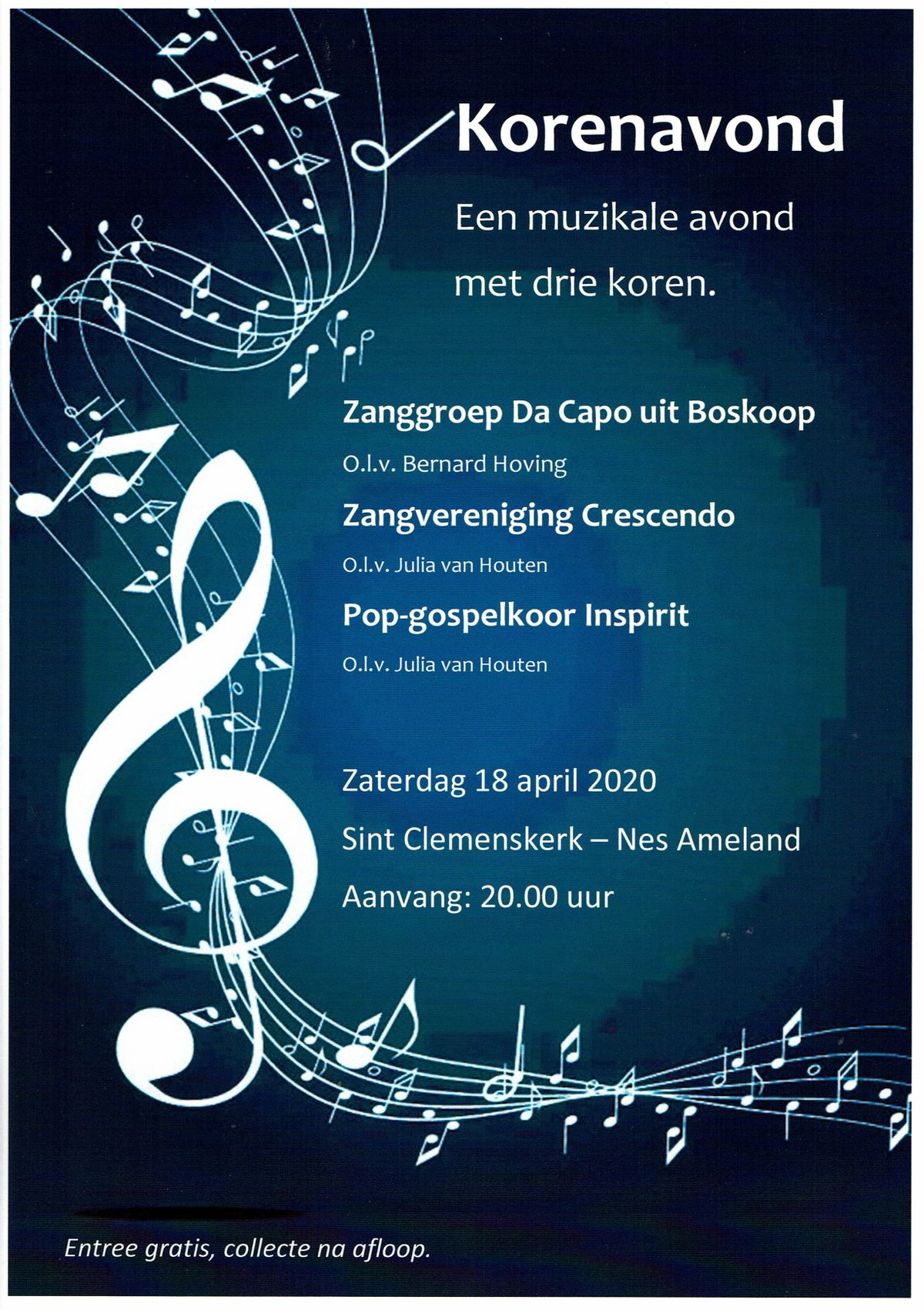 Poster 18 april 2020 korenavond